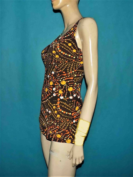 authentic vintage swimsuit year 1970 size 40 made France