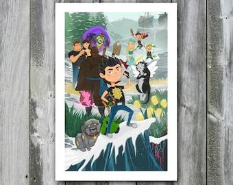 Garrison the Stronghold Hero Key Art – 13x19 Art Print