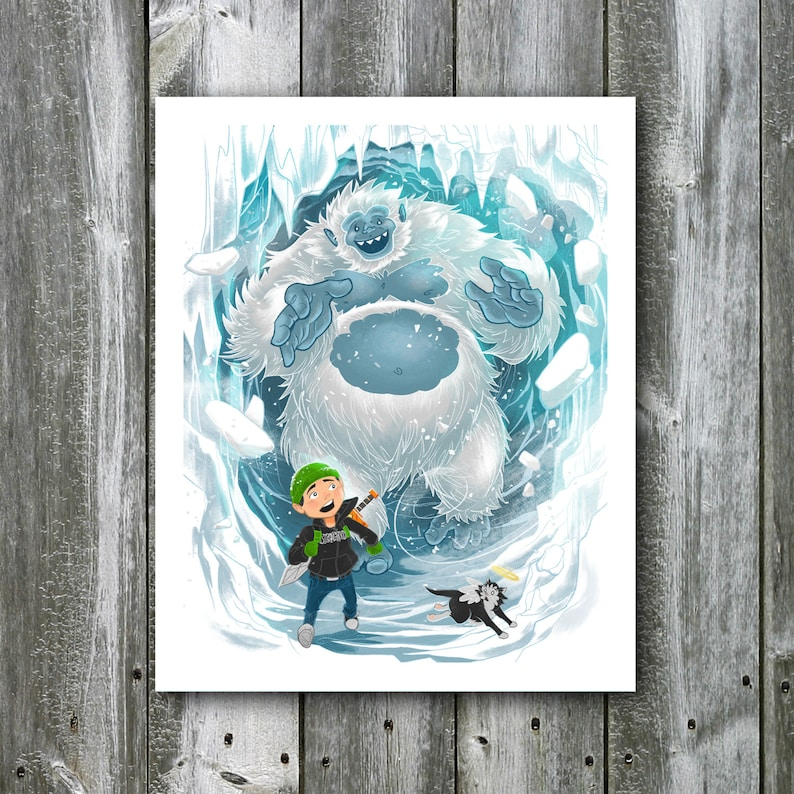 Garrison and the Yeti  8x10 Art Print image 0