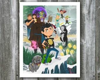 Garrison the Stronghold Hero Key Art – 8x10 Art Print