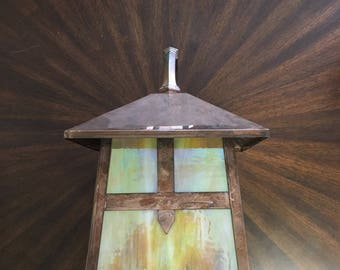 craftsman lighting etsy