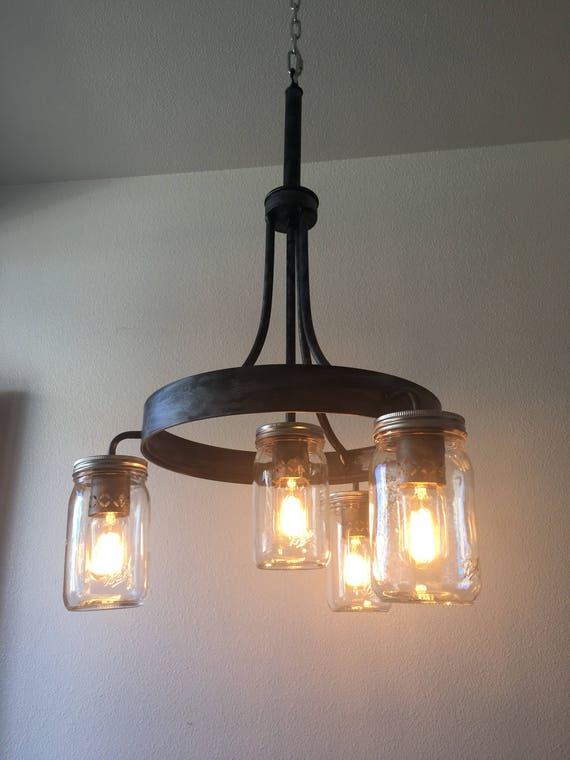 Mason Jar Dining Room Light   Etsy