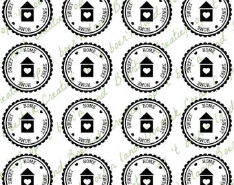 File for gift-sticker Home sweet home, Silhouette