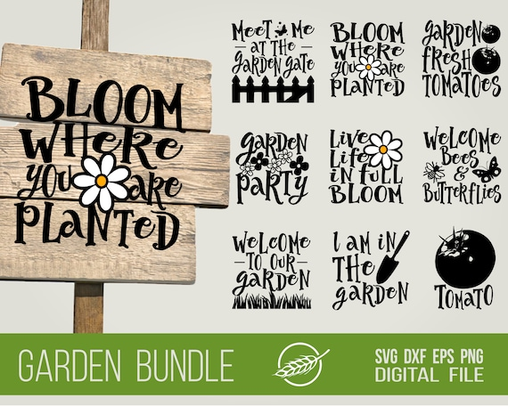 Garden Quote Bundle Svg Cut Files Etsy