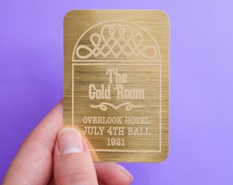 The Gold Room Sign - The Shining Gold Metallic Kiss Cut Sticker - Stanley Kubrick Horror Classic - Jack Torrance - Overlook Hotel - Dr Sleep