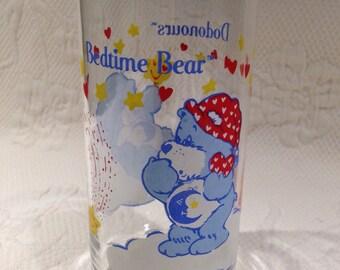 Vintage Bedtime Bear - glass collection Care bears TM - Minnesota MC - 1984 American Greetings Corp.