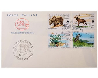 Vintage Envelope First Day Cancellation Perugia Italy Collectables 1991