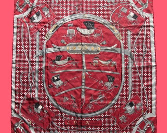 f3611bab Vintage HERMES Silk Scarf - 1961 release - Jacques Eudel - RARE Collectable