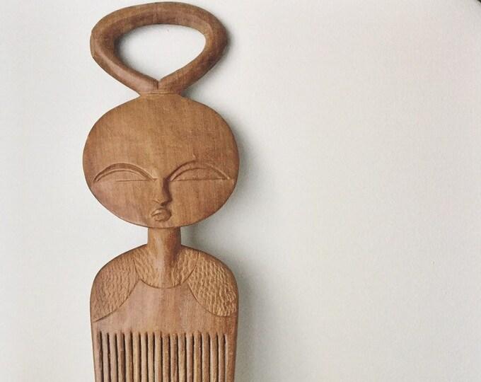 vintage ashanti wooden comb