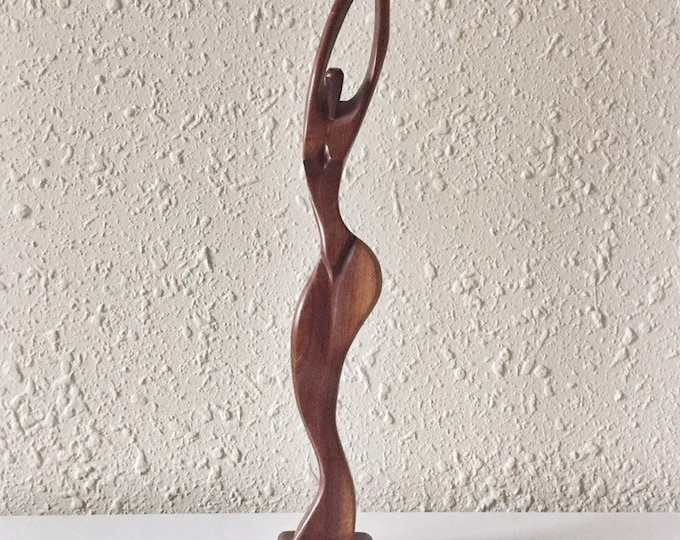 vintage sculptural wooden goddess