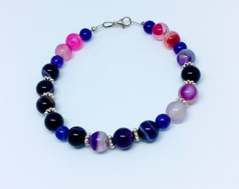 """Agate bracelet for a 19.1 cm 7.5"""" wrist. Mother's Day gift"""