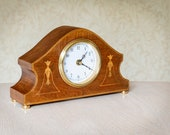 Upcycled vintage mantel clock.