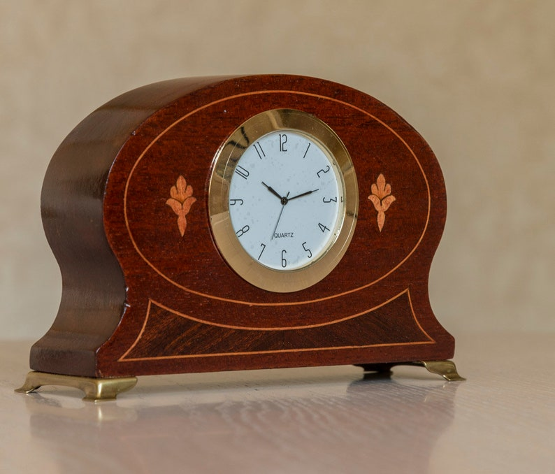 Small Upcycled Vintage Desk Clock Etsy