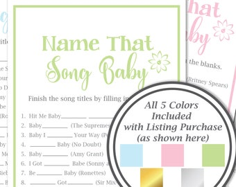 name that song baby game baby shower song game flower gender neutral printable game 30