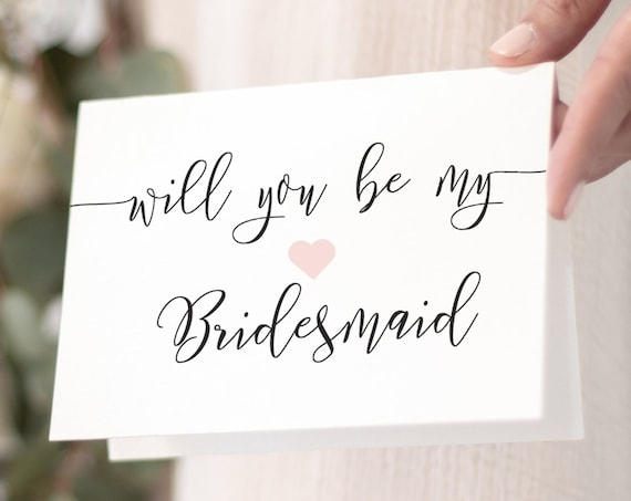Will You Be My Bridesmaid Card, Ask to be Bridesmaid, Maid of Honor, Flower Girl, Editable Template, 100% Editable, Templett PPW0550