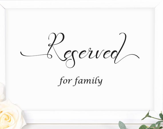 Wedding Reserved Sign ~ Editable Wedding Sign ~ Reception Sign ~  Printable Sign ~ Editable Template ~ Instant Download PDF ~ 110B