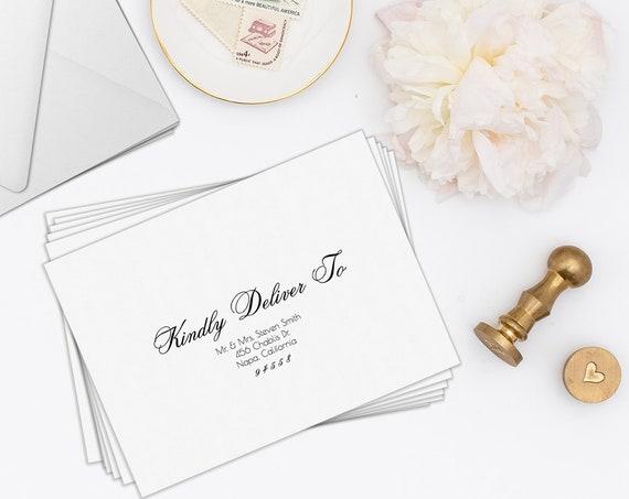 Envelope Address Template, Printable Wedding Envelope Template, Modern Calligraphy 100% Editable, Templett PPW0220