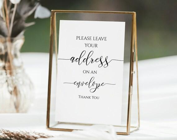 Address Envelope Sign Template, Baby Shower Sign, Bridal Shower signage, Editable Wedding Printable, Corjl PPW0550 Grace