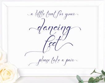87bd7b59768db6 Navy Blue Dancing Feet Sign ~ Flip Flop Sign Template ~ Wedding Sign ~ Reception  Sign ~ Instant Download PDF ~ 110N
