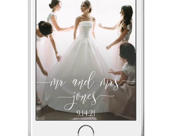 Wedding Snap Chart Geofilter for Mobile Phone, Simplistic Elegant Font Design 100% Editable, Templett PPW0550