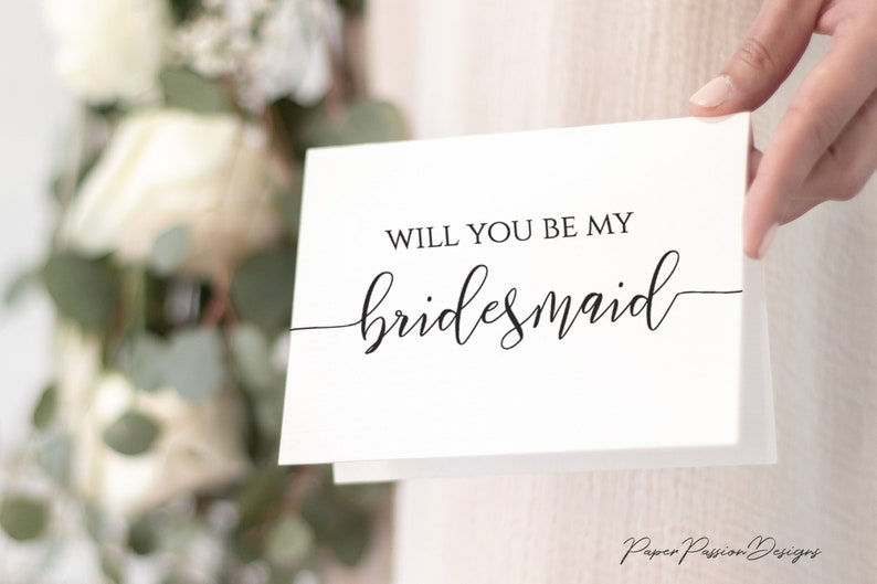 Will You Be My Bridesmaid Card Ask to be Bridesmaid Maid of image 0