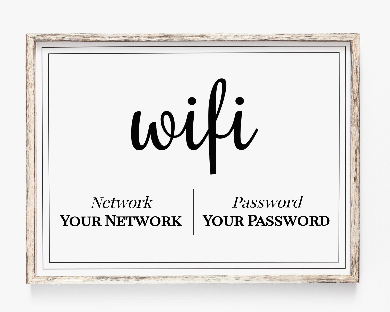 image regarding Wifi Password Printable known as WIFI Pword Printable, Wifi Pword Indicator, World-wide-web Indication