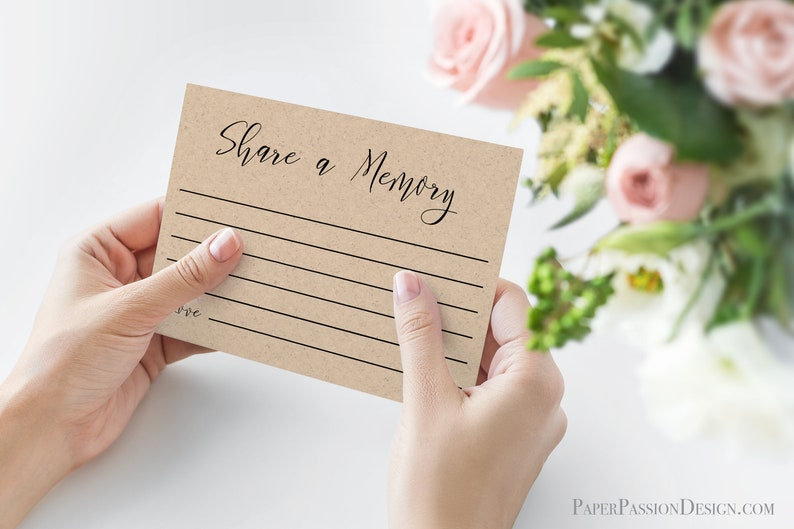 Share a Memory Card for Wedding Reception and Bridal Shower image 0
