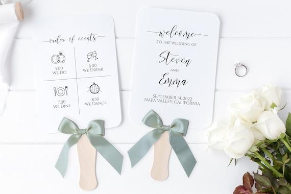 Wedding Fan Program, Wedding Order of Events, Wedding Program, Wedding Handout 100% Editable PPW0550 Grace