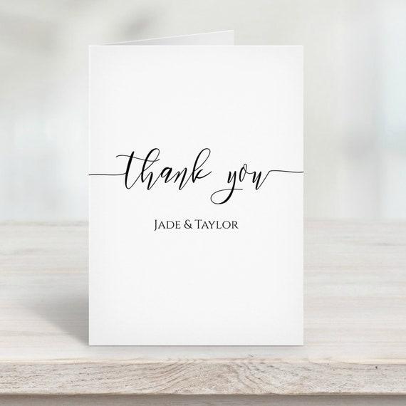 Thank You Card Template, Simplistic Elegant Font Design 100% Editable PPW0550 GRACE