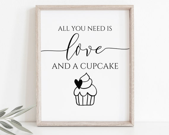 Love and Cupcake Sign Template,  Wedding Love Sign, Bridal Shower Signage, Baby Shower, Editable Wedding Printable, Corjl PPW0550 Grace