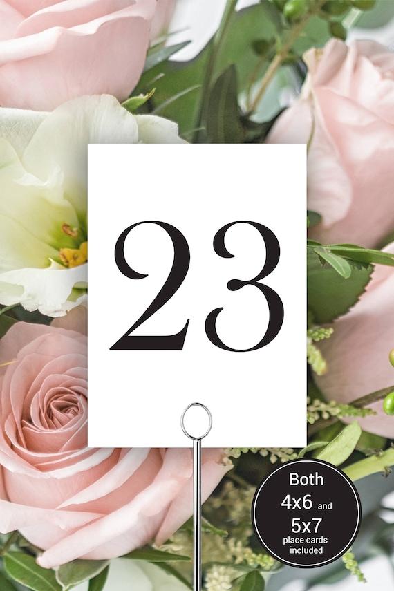 Table Numbers, Modern Wedding Table Numbers Printable, Simple Classic Wedding, Table Number Cards, Instant Download PDF