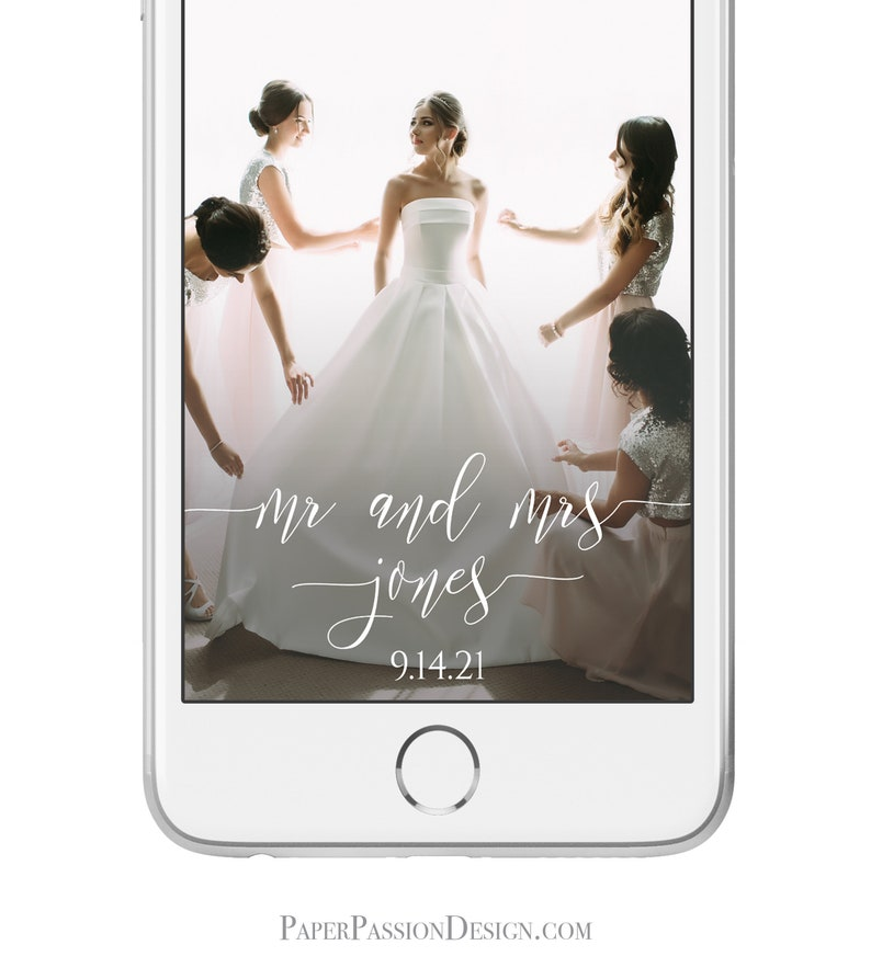 Wedding Snap Chart Geofilter for Mobile Phone Simplistic image 0