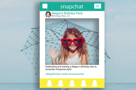 Snapchat Photo Prop Editable Frame, Photo Booth Prop, Weddings, Birthday, Events, Template, Instant Download PDF