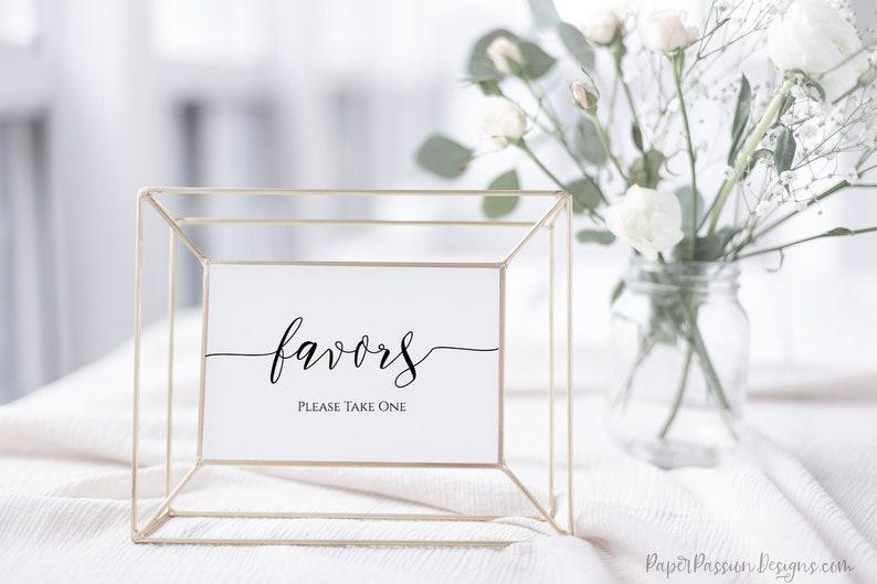 Wedding Favors Sign Bridal Shower Sign Wedding Printable image 0