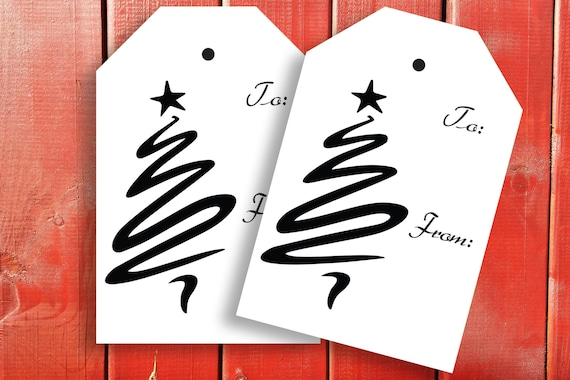 Printable Christmas Gift Tag~Printable Christmas Tag Label~Christmas Tree~Party Printable PPC-19