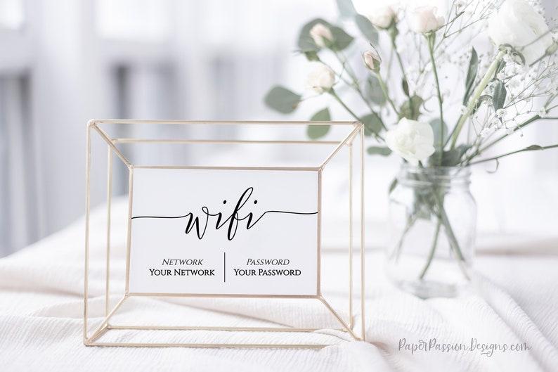 WIFI Password Printable Wifi Password Sign Internet Sign image 0