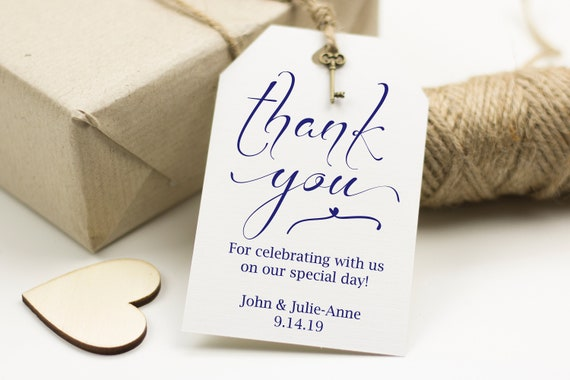 Navy Thank You Tag, Wedding Favor Tag, Favor Thank You Tags, Editable Printable,  Instant Download, 110N