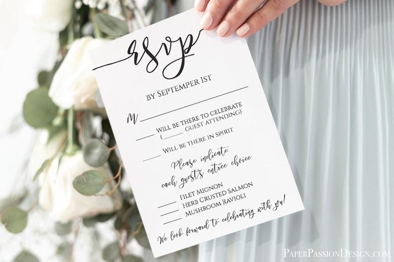 RSVP Card Template Instant Download DIY Wedding Details image 0