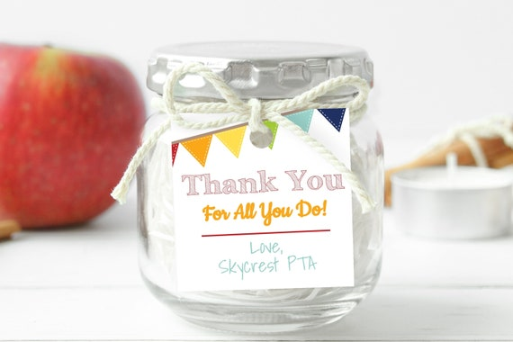 Teacher Appreciation Week Tag, Gift Tag Printable, Thank You Card, Personalize, Editable TAW100W