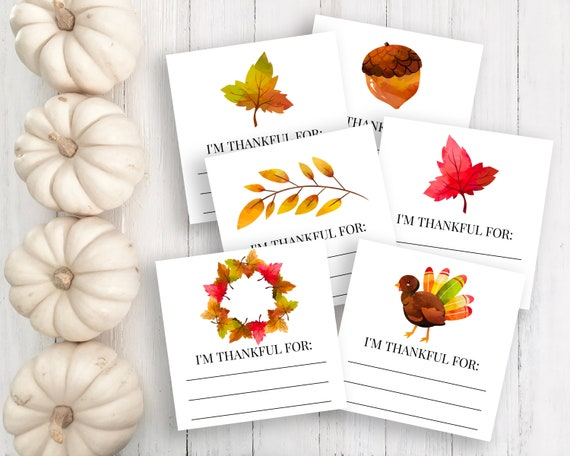 Thanksgiving Gratitude Card Template, Harvest Theme Thankful Activity, I am Thankful for... HARVEST-S1
