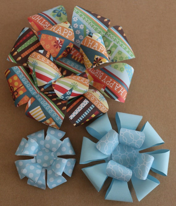 Bow Templates Large Paper Medium Printable Small Gift Template Set