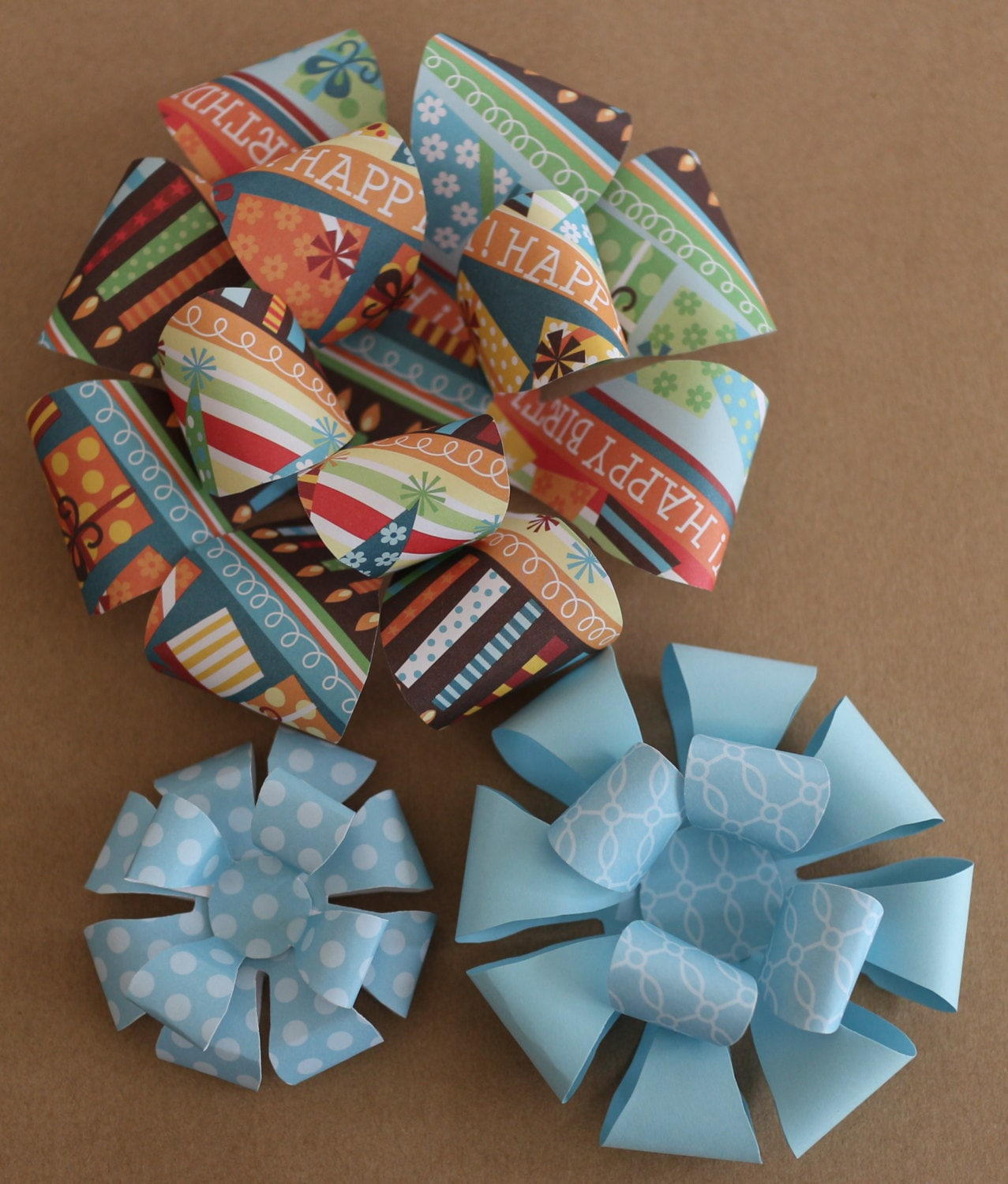 Bow Templates Large Paper Bow Medium Printable Bow Small Etsy