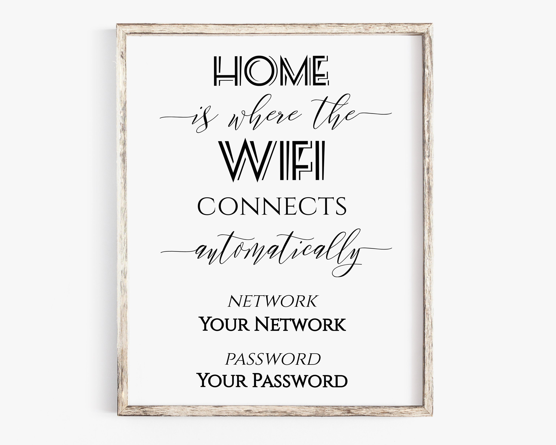 photograph regarding Wifi Password Printable titled Welcome WIFI Pword Printable, Wifi Pword Signal, Dwelling