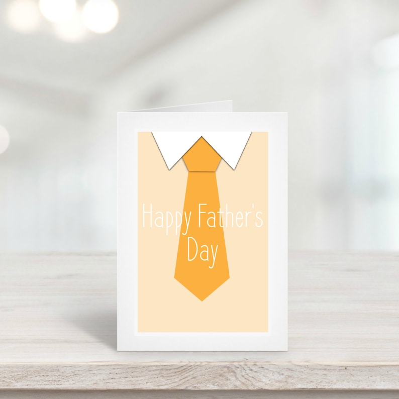 Father's Day Card Template Happy Father's Day Dad image 0