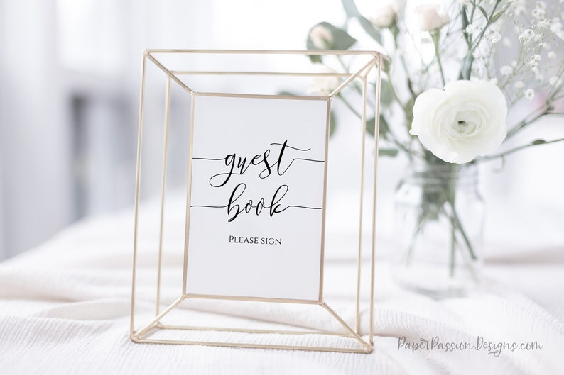 Guest Book Sign Editable Wedding Sign Bridal Shower Please image 0