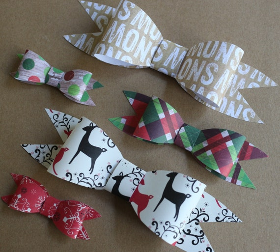 Bow Templates 2 Loop Template Set Large Paper Medium Printable Small Gift