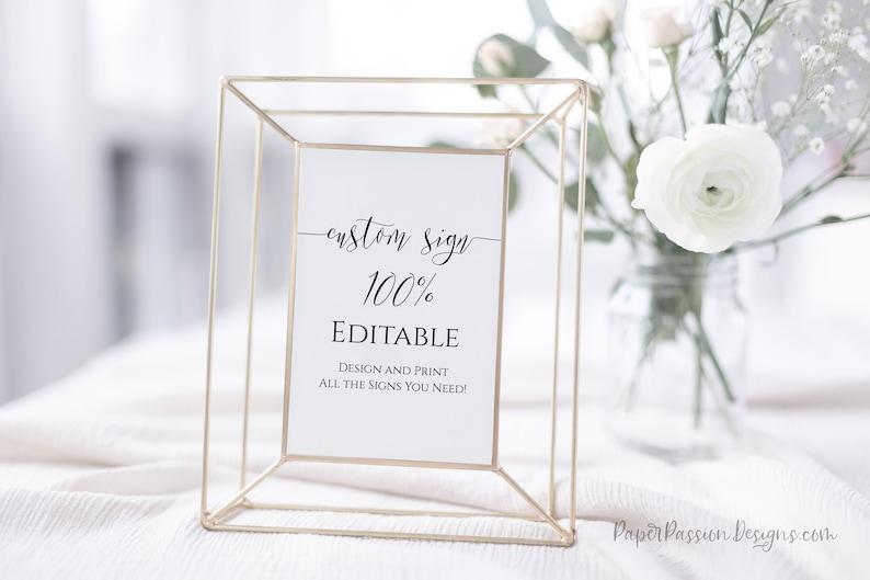 Custom Sign Editable Wedding Sign Bridal Shower Template image 0