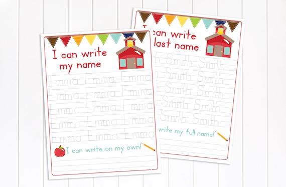 Name Tracing Worksheet, Preschool Activity, Educational Tool, Handwriting Practice, Homeschool, Letter Practice, Editable Worksheet
