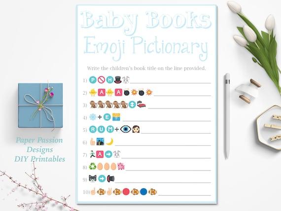 Baby Books Emoji Pictionary Game Children's Books Emoji