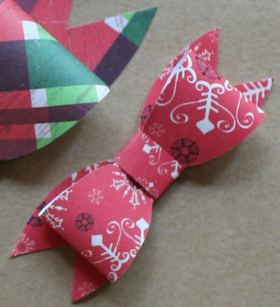 bow small 2 loop bow template small paper bow template etsy